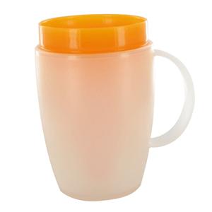 Becher mit Trink-Trick orange, Ornamin