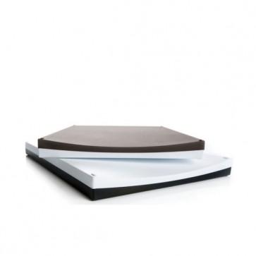 Schneidebrett Cutting Board, schwarz, weiss