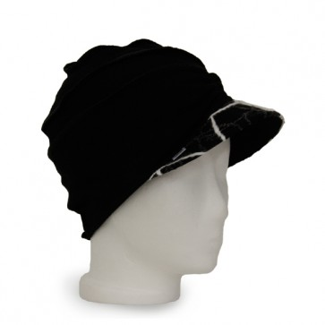 Mütze La Donna schwarz weiss, winterwarm