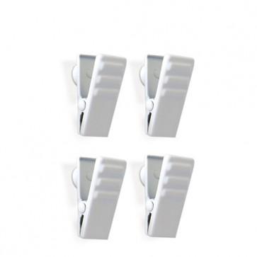 Magnet-Clip CLIPPER 4er Set weiss