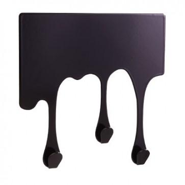 Wandhaken in Tropfenform DROP XS, schwarz