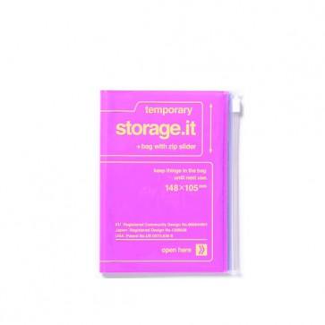 Notizheft mit Zip Beutel Hülle Storage it, violett