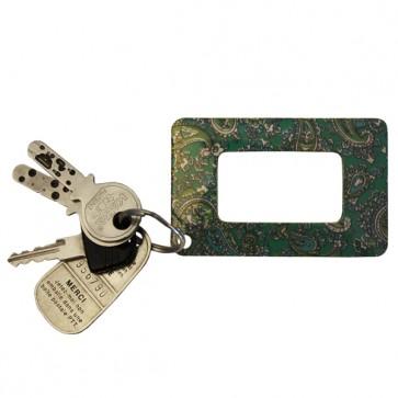 Lupe im Kreditkartenformat, Paisley grün