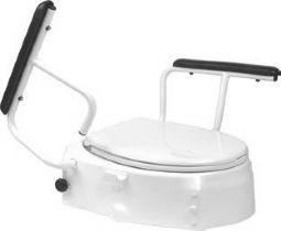 Fixierbarer Toilettensitzerhöhung mit Armlehnen, Mobilex