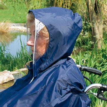 Regencape ohne Armauschnitt marineblau, Servoprax