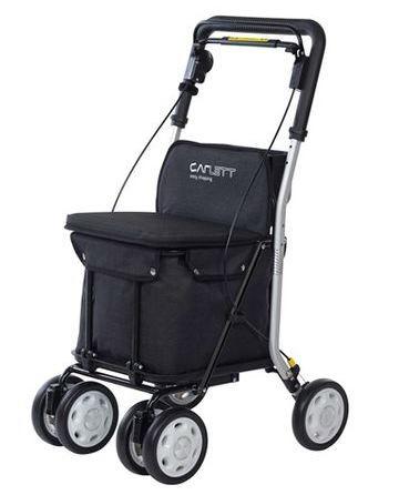 Einkaufstrolly mit Sitzmöglichkeit Carlett Lett 800 Schwarz