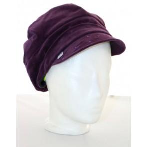 Baskenmütze Feincord, violett