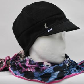 Baskenmütze Feincord, schwarz