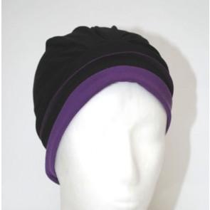 Mütze Bellissima, schwarz-lila