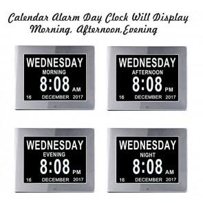 Digital Wecker, Kalender, Uhr bei Demenz und bei Sehschwäche