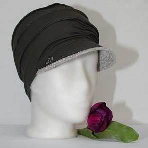 Mütze La Donna, kaki-silber