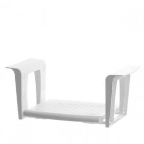 Bade-Wannen-Sitz ohne Rückenlehne, weiss