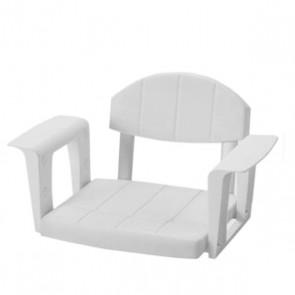 Bade-Wannen-Sitz mit Rückenlehne, weiss