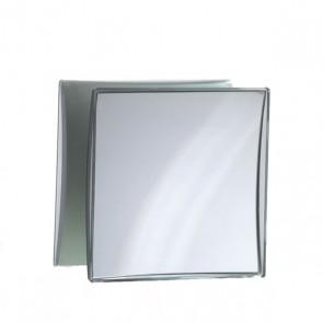Kosmetikspiegel mit Saugnapf quadratisch  5-facher vergösserung