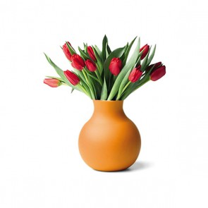 Gummivase gross, orange