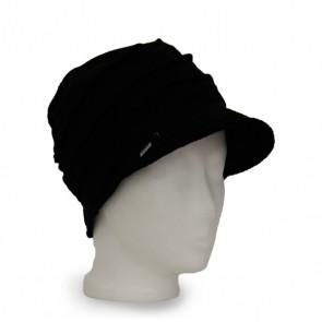 Mütze La Donna Strick schwarz, winterwarm