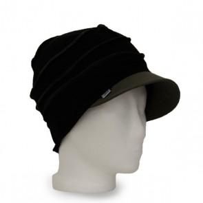 Mütze La Donna schwarz kaki, winterwarm