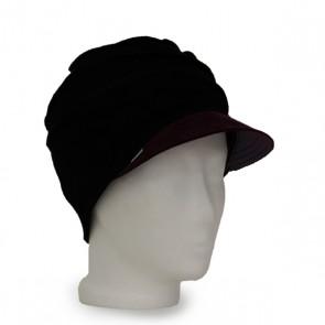 Mütze La Donna schwarz beere, winterwarm