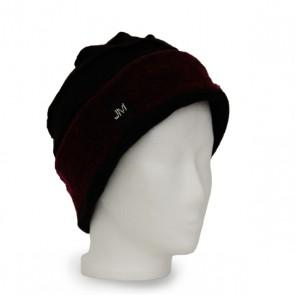 Mütze La Bella schwarz beere, winterwarm