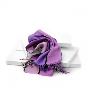 Schal Streifen lila