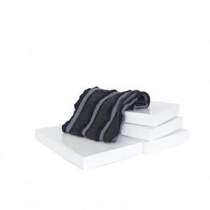 Schal Strick dunkelblau, grau
