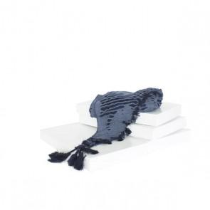 Schal Netz blau