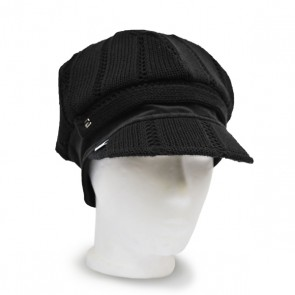 Baskenmütze Strick schwarz