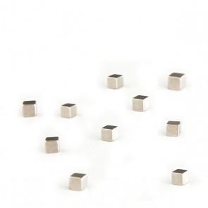 Magnete KUBIQ 10er Set silbern