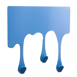 Wandhaken in Tropfenform DROP XS, pastellblau