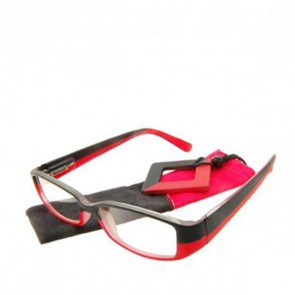 Fertiglesebrille Block Black Red +2.0 dpt