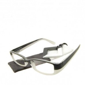 Fertiglesebrille Block Black White +3.0 dpt
