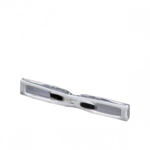 Mini-Brille, Lese-Accessoire clip&read, grau (2.5 dpt)