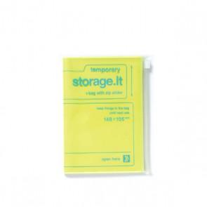 Notizheft mit Zip Beutel Hülle Storage it, gelb