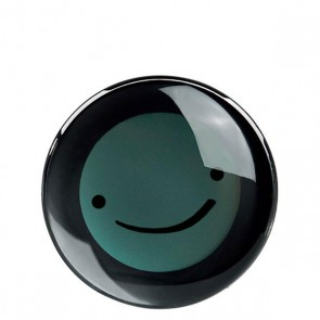 Trinkuhr Smiley, schwarz