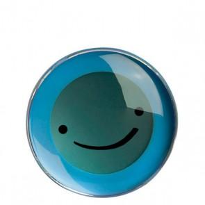 Trinkuhr Smiley, blau