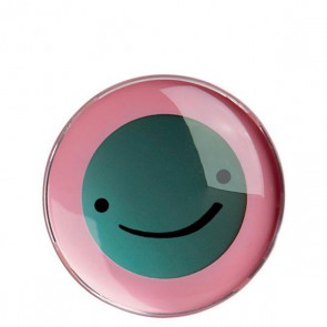 Trinkuhr Smiley, pink