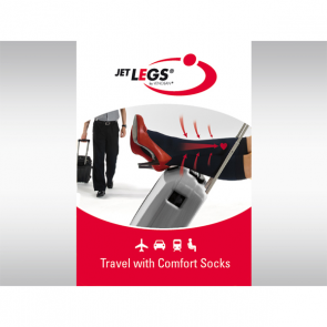 JET LEGS AD Reisesocken schwarz, 41-45 Large