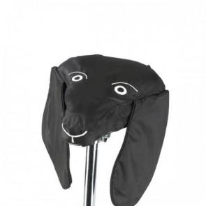 Satteltier, Sattelüberzug schwarzer Hund