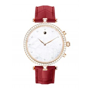 Smartwatcher Notruf-Uhr PEARL, Gold/Rot