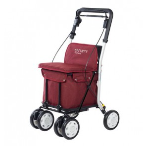Einkaufstrolly mit Sitzmöglichkeit Carlett Lett 800 Rot