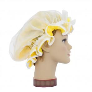 Duschhaube Wachsblumen gelb, GlamKapz