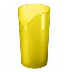 Trinkbecher mit Nasenausschnitt (gelb)